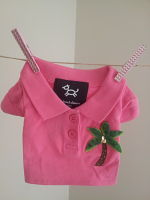 Michael Simon Dog Pink golf shirt Palm tree