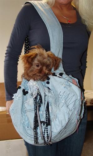 Denim Dog sling Carrier