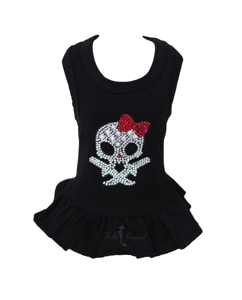 Hello Doggie Molly Skull Dress