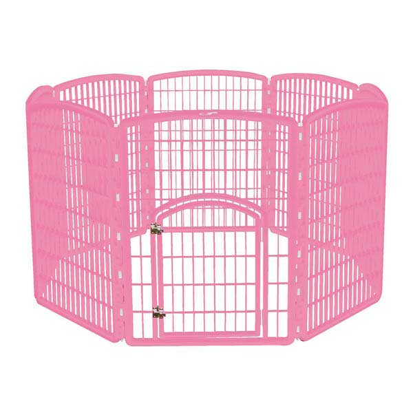 Iris 8-Panel Containment puppy dog playpen