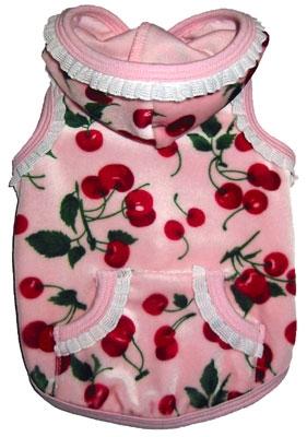 Ruff Ruff Couture Cherry pink velour Hoodie