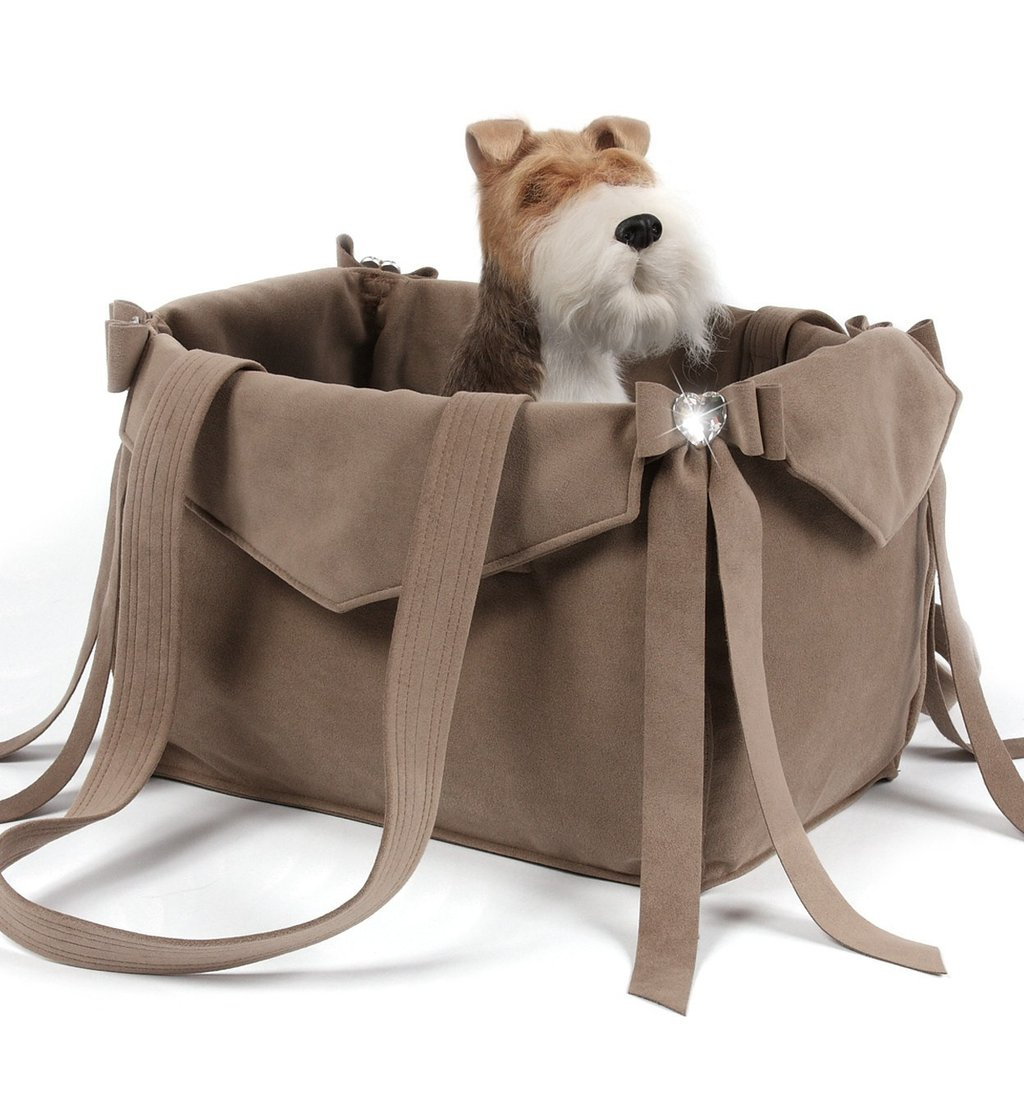 Fawn Tail Bow Heart Luxury Dog Carrier by Susan Lanci