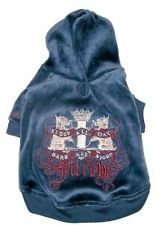Juicy Couture Velour dog hoodie Sleep all Day Bark all Night Lady G