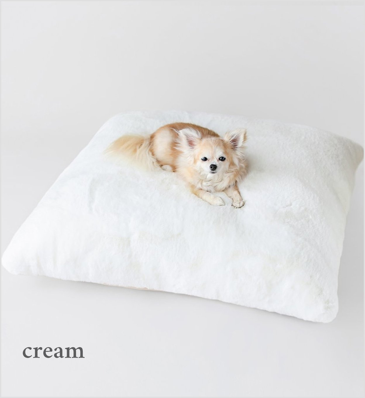 Hello Doggie Serenity Plush faux fur Dog Bed